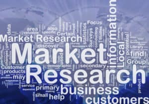 Background concept wordcloud illustration of market research international