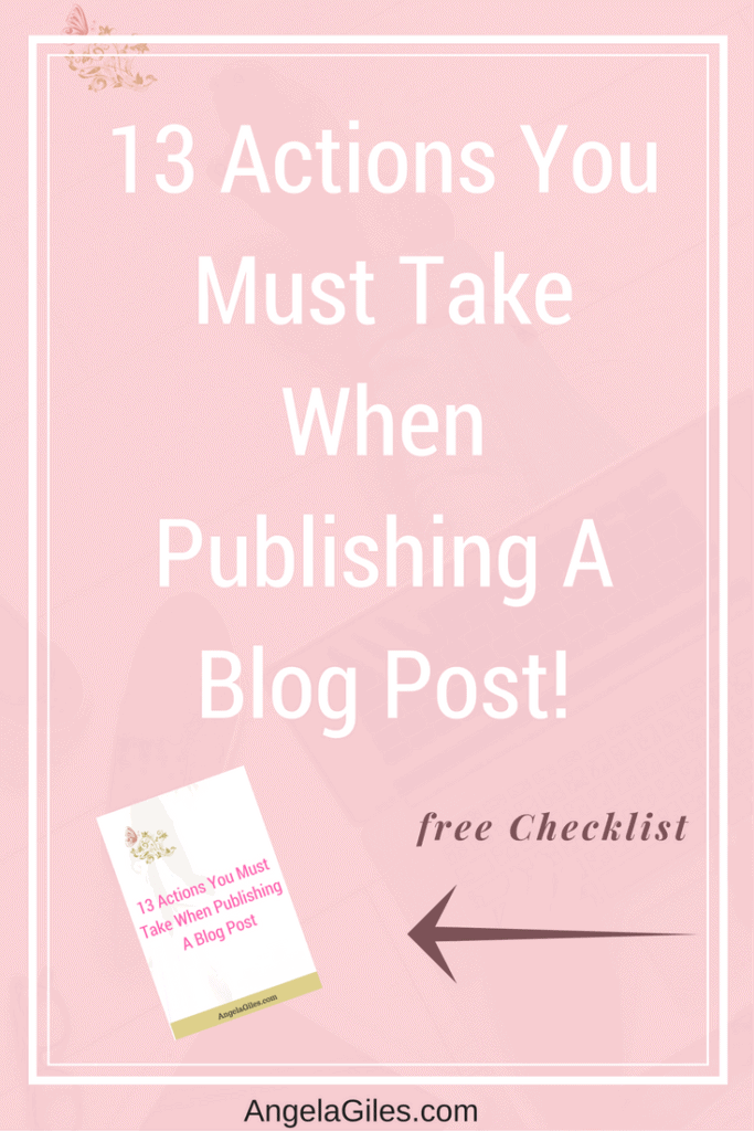 13 Actions You Should Take When Publishing A Blog Post + After publishing your blog / If your dream is to grow your blog but are trying to figure out how to craft high-quality blog posts and market them, then this post is for you. I show you 13 actions to take to help your posts have a wider reach