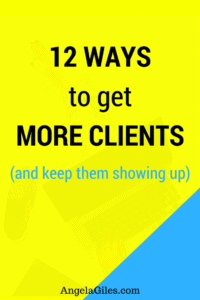 12 Ways to get More Clients and keep Showing Up. Starting your own business is fun!  But when rubber hits the road and getting clients to keep your doors open now that can be stressful. In today's blog post, I am going to share with you 12 powerful strategies that help you get more clients.  In fact, if you want to be solidly booked, then you have landed in the right spot
