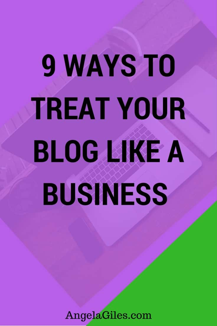 Treat Blog Like Business