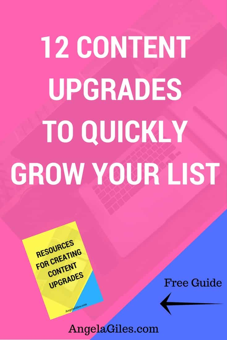 12 Content Upgrades To Quickly Grow Your List. Click through to read the whole thing & download the free checklist! content upgrade, content upgrades, content upgrade ideas, content upgrade template, content upgrade design, content upgrades, content upgrade with mailchimp #contentupgrade #contentupgrades