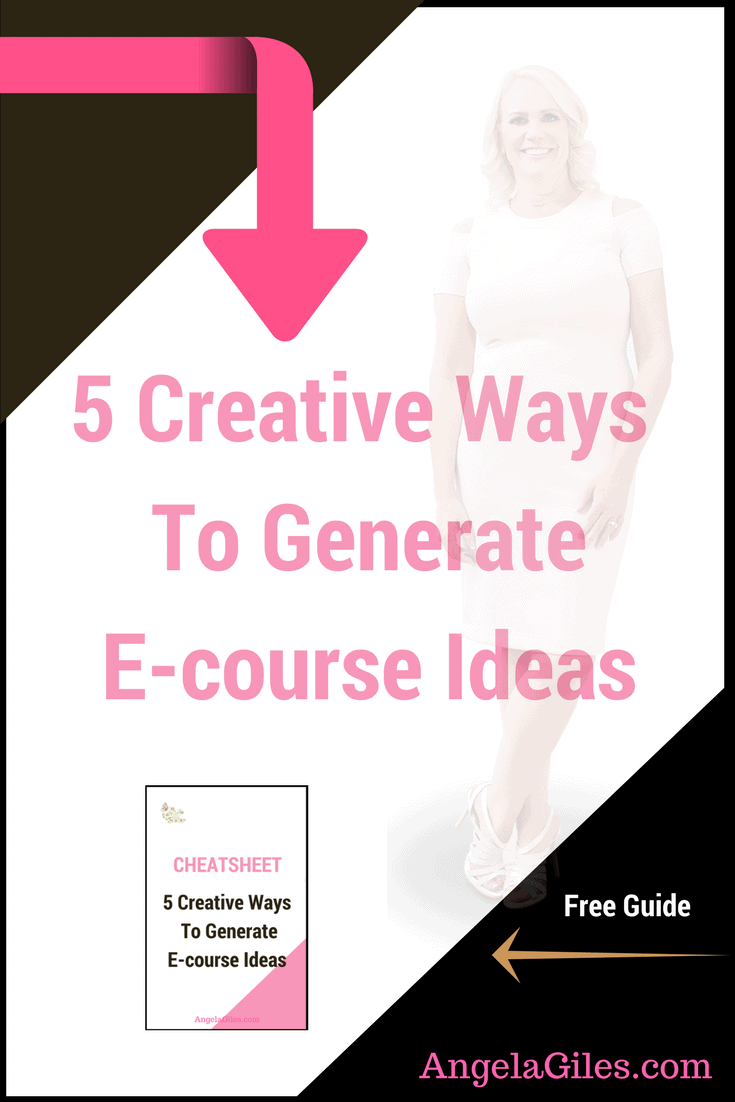 5 Creative Ways To Generate E-course Ideas. Click through to read the whole thing & download the free checklist!,  e-course, e-course creation, e-course ideas, e-course outline, e-course launch, e-course ideas online, e-course, e-course design, e-course ideas, e-course tips, e-courses, e-course creations, #ecourse, #e-course, #angelagiles