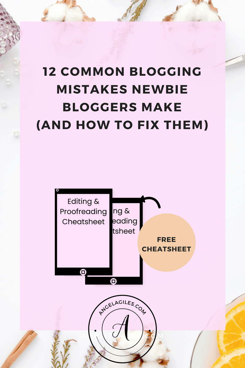 Are your blog page views minimal? Do you need blog writing tips to skyrocket your page views?  If so, we have got your covered with our top 12 common blogging mistakes that newbie bloggers make & how to fix them!  Plus you can download our editing and proofreading checklist!  #blogwritingforbeginners #blogwritingtipsforbeginners #bloggingmistakes #beginnersbloggngtipsandtricks #bloggingtipsforbeginners #commonbloggingmistakes #contentwritingtipsforbeginners