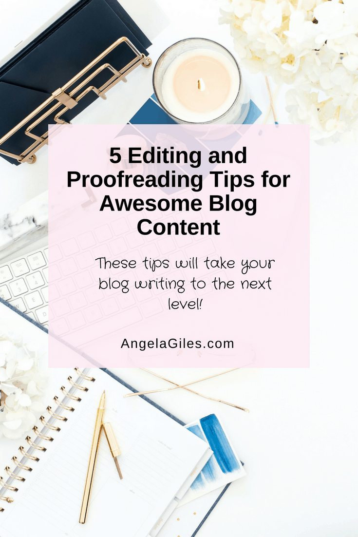 blog editing and proof reading tips