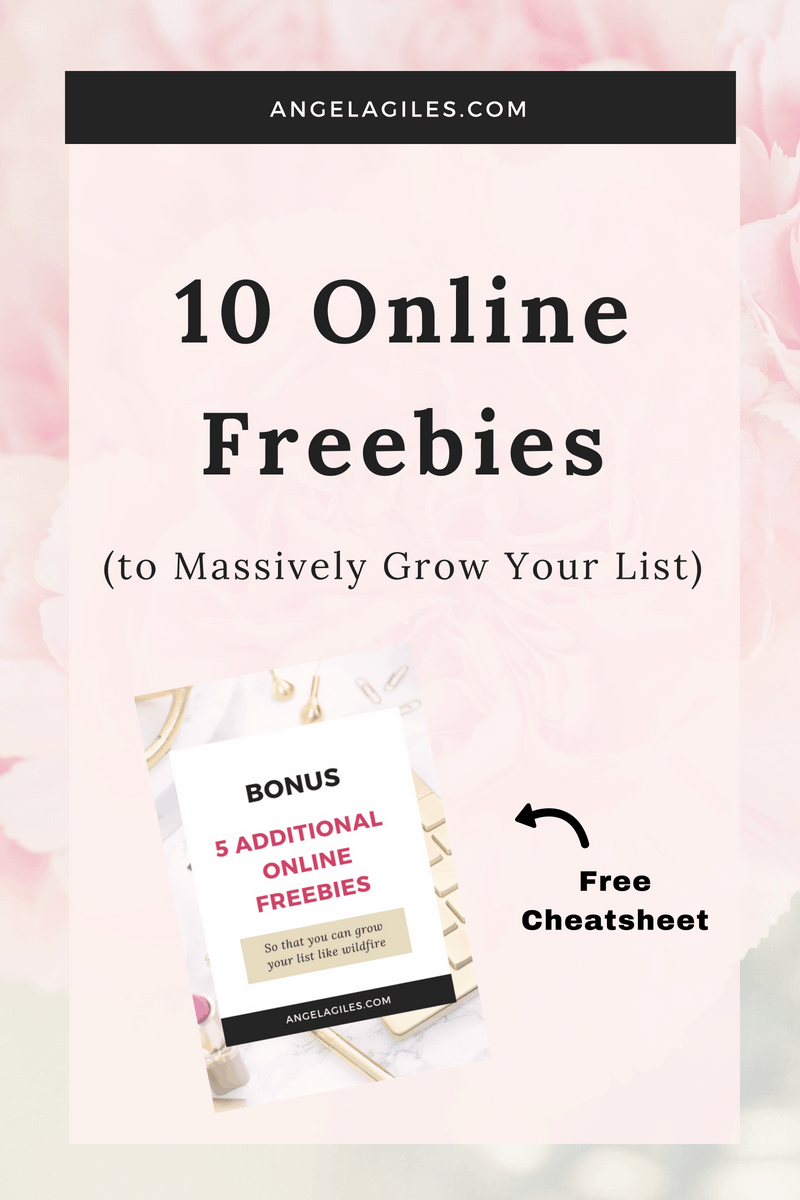 Need to grow your list? Use even one of these 10 online freebies and your list will explode! Then, download our cheatsheet of 5 other business freebies, implement one or more & grow your list even faster! #freebiesonline, #businessfreebies, #internetfreebies, #freebiesforbloggers, #blogfreebies, #bestonlinefreebies