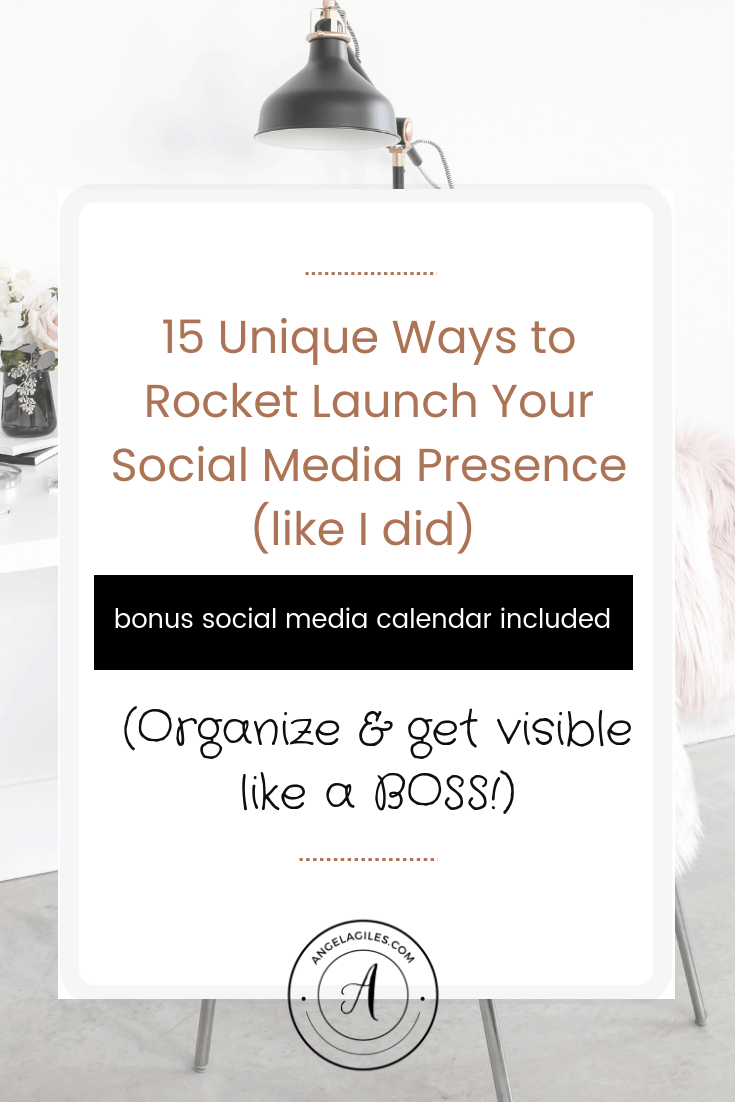 Are you ready to ROCKET Launch your Social Media Presence?  Here are 15 Unique Ways I used to increase social media presence to a rather LARGE following (and you can do it too) Plus, download the free social media content calendar I use! #Increasesocialnediapresence, #howtogrowsocialmediapresence, #howtobuildsocialmediapresence, #boostsocialmediapresence, #buildingsocialmediapresence, #improveyoursocialmediapresence, #creatingasocialmediapresence