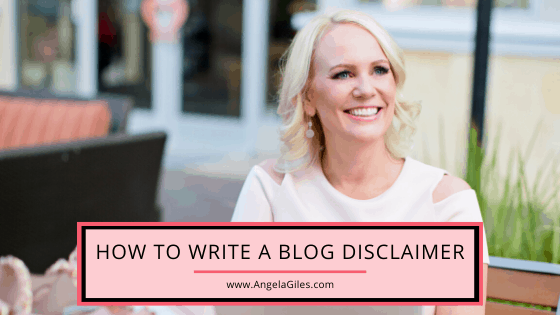 How to Write a Blog Disclaimer