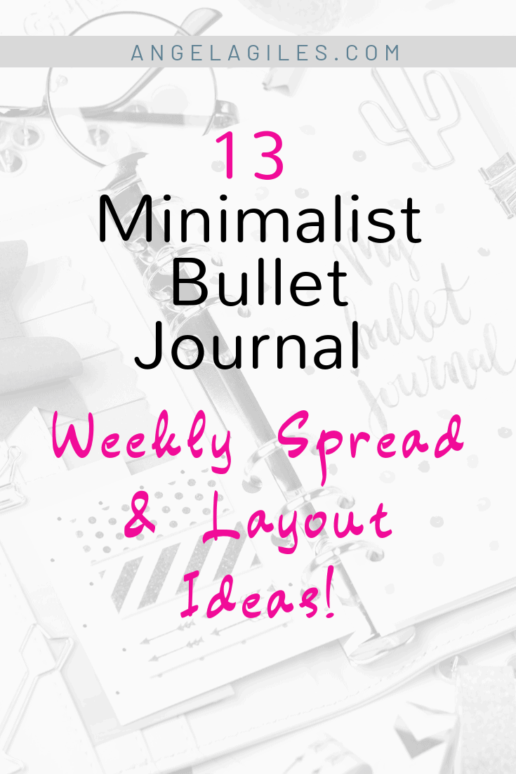 13 Minimalist Bullet Journal Weekly Spread and Layout Ideas