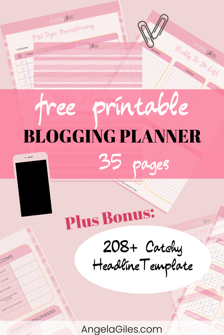 FREE Printable 2020 Blog Planner Includes 208+ Catchy Headline Template