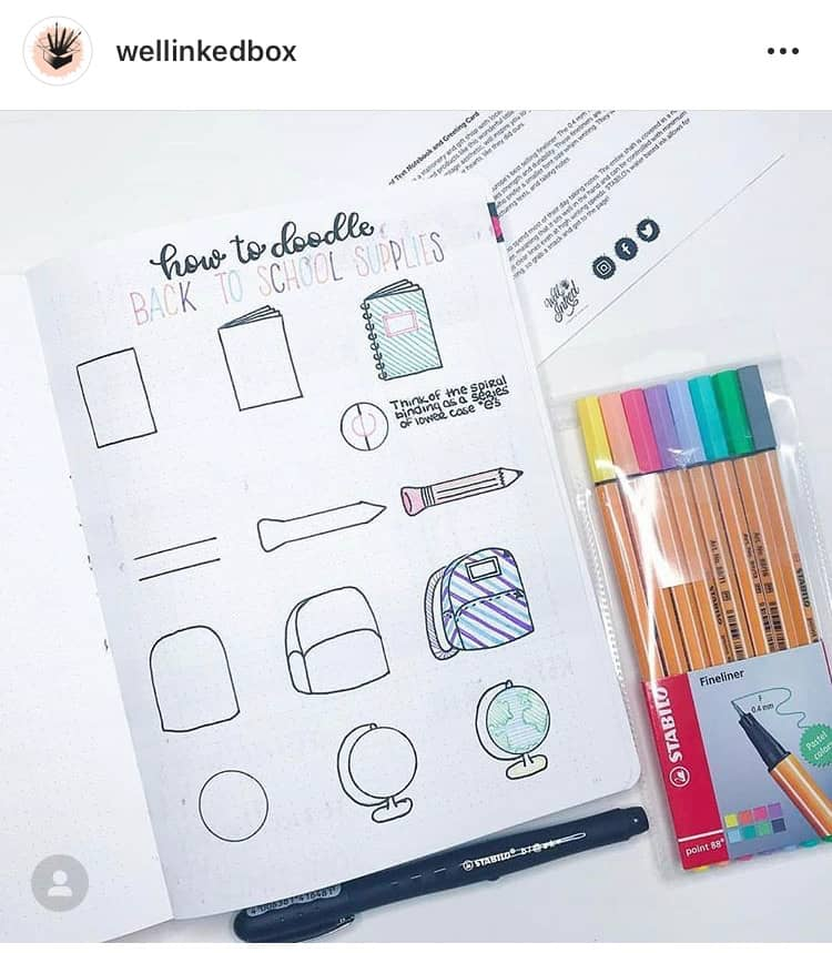 17 Cute Bullet Journal Doodles You Can Easily Copy On Your