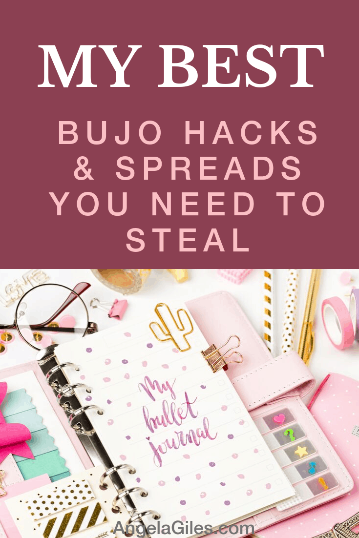 The best bullet journal hacks & spreads that actually work! A collection of the best tips and inspiration that you will for sure want to copy. 
