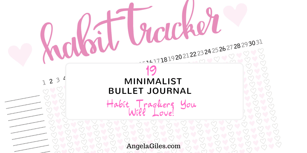19 Minimalist Bullet Journal Habit Trackers You Will Love