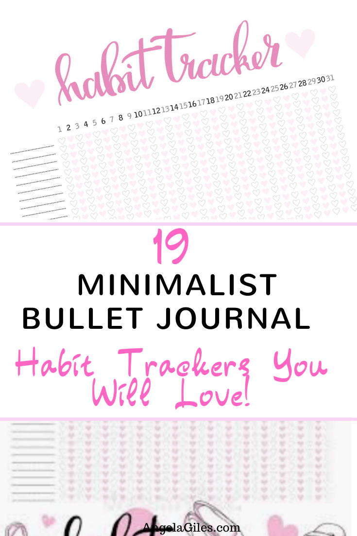 19 Minimalist Bullet Journal Habit Trackers You Will Love