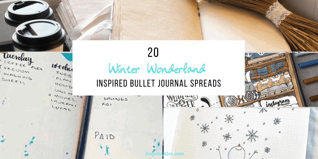 20 Winter Wonderland-Inspired Bullet Journal Spreads