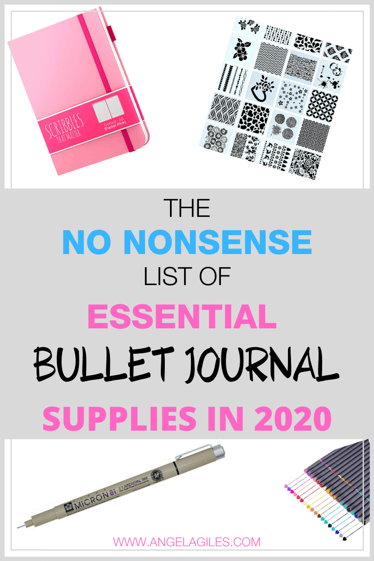 The Best Bullet Journal Supplies For Beginners in 2020.