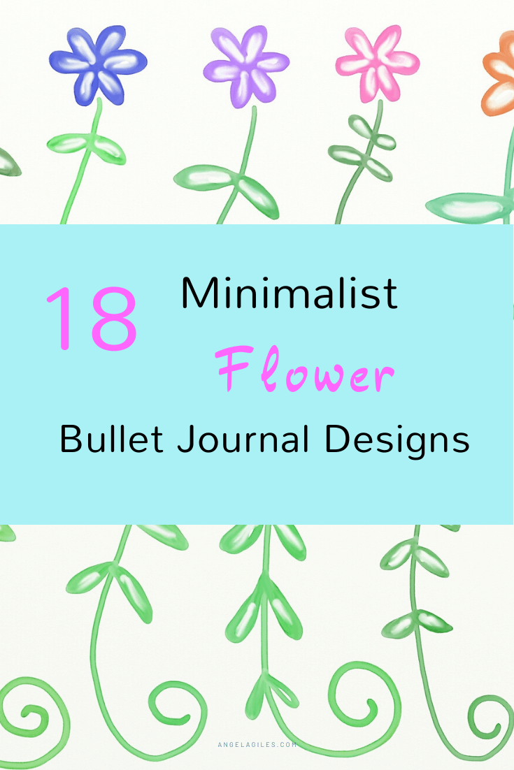 "A collection of minimalist flower bullet journal designs that are easy to draw.  You can use these simple flower designs ""aka doodles"" as inspiration in drawing your corners, borders, leaves, tangle patterns, roses, zentangle patterns, and more.  Even create your own step by step flower patterns!