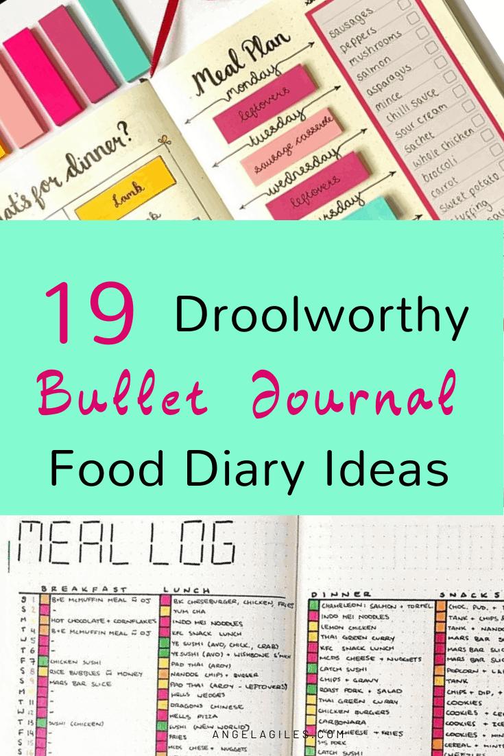 19 Droolworthy Bullet Journal Food Diary Ideas