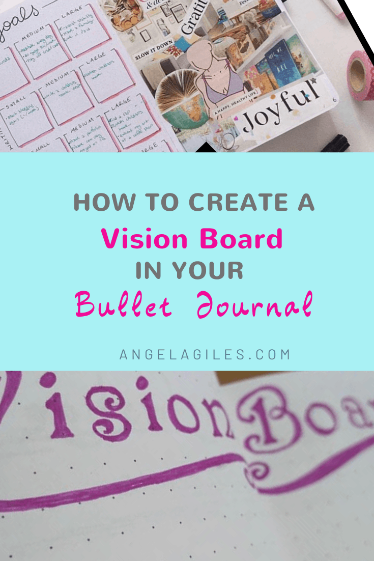 Learn how to create a vision board in your bullet journal so that you can visualize your own goals in 2020. This easy step by step tutorial on how to make your own vision journal; a bullet journal vision board page is perfect for the creative bujo addict.