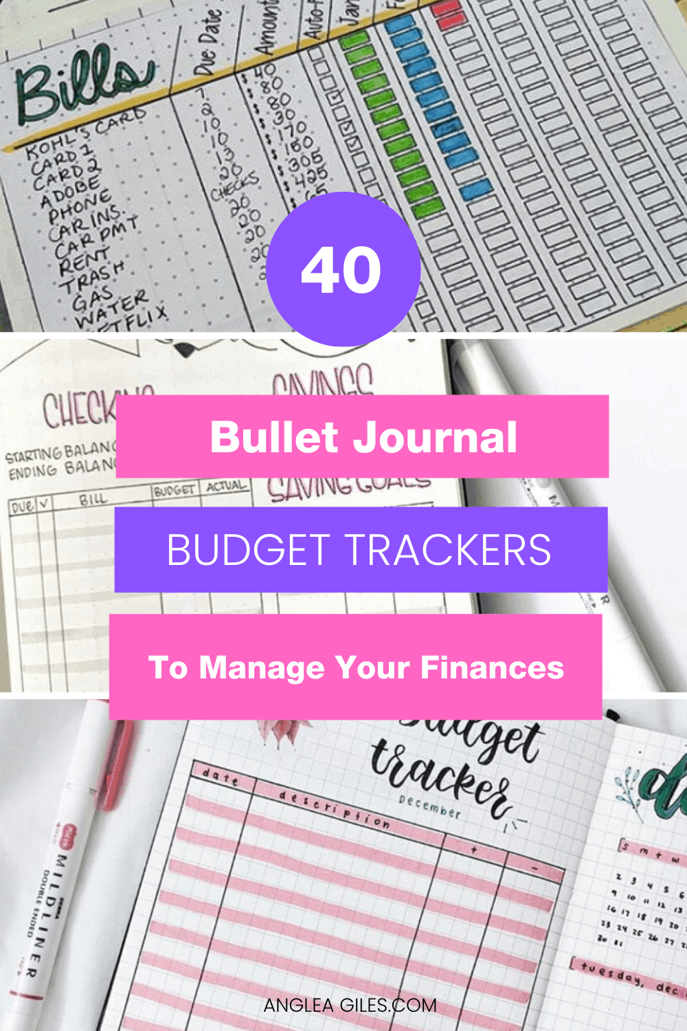 Make managing your money fun and way easier with Bullet Journal Budget Trackers!  These bullet journal budget ideas, pages and spreads will help you manage your finances with creativity and flair.  They are perfect for moms of young children, university & college students or bujo addicts who like trying new bullet journal hacks!    #bulletjournalfinancesbudgetrackers #bulletjournalbudget #bulletjournalbudgetlayout #bulletjournalbudgettracker