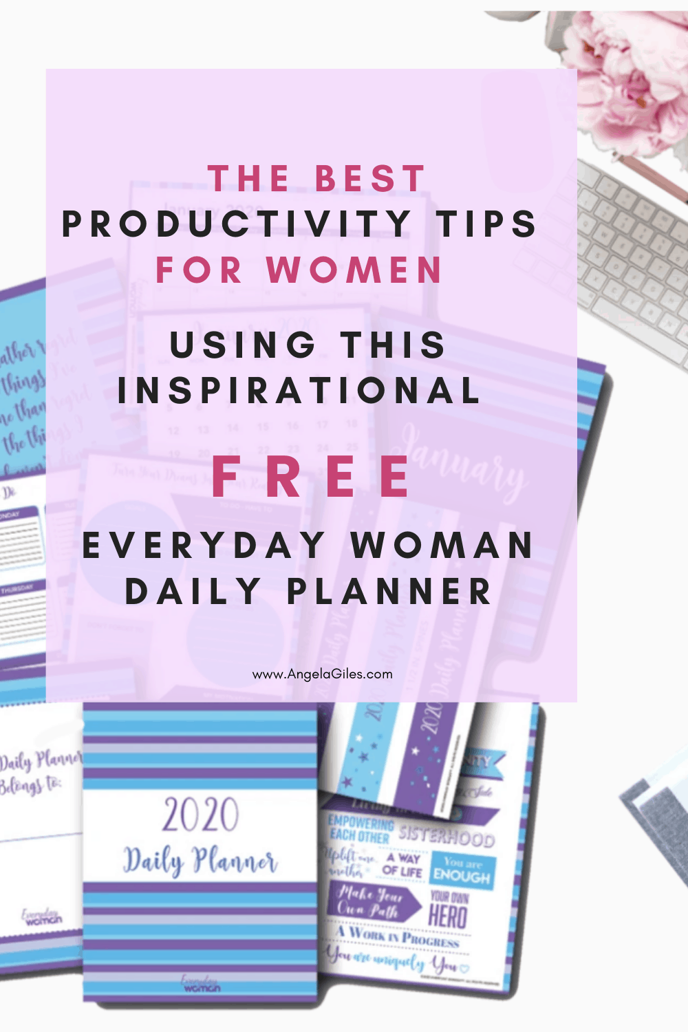 Download this fun cute 2020 daily planner! 15,000 other women and moms use it to get organized.  You will LOVE it for your weekly schedules, monthly calendars, meal planning, brain dumping your ideas & thoughts. It is perfect for the minimalist who likes tracking everything in life, work & house.  You can nail down their goal setting. #dailyplannerprintablesfree #dailyplannertemplate #dailyplannertimemanagement #dailyplannerweeklyschedule #dailyplannergoalsetting #dailyplannerorganizing...
