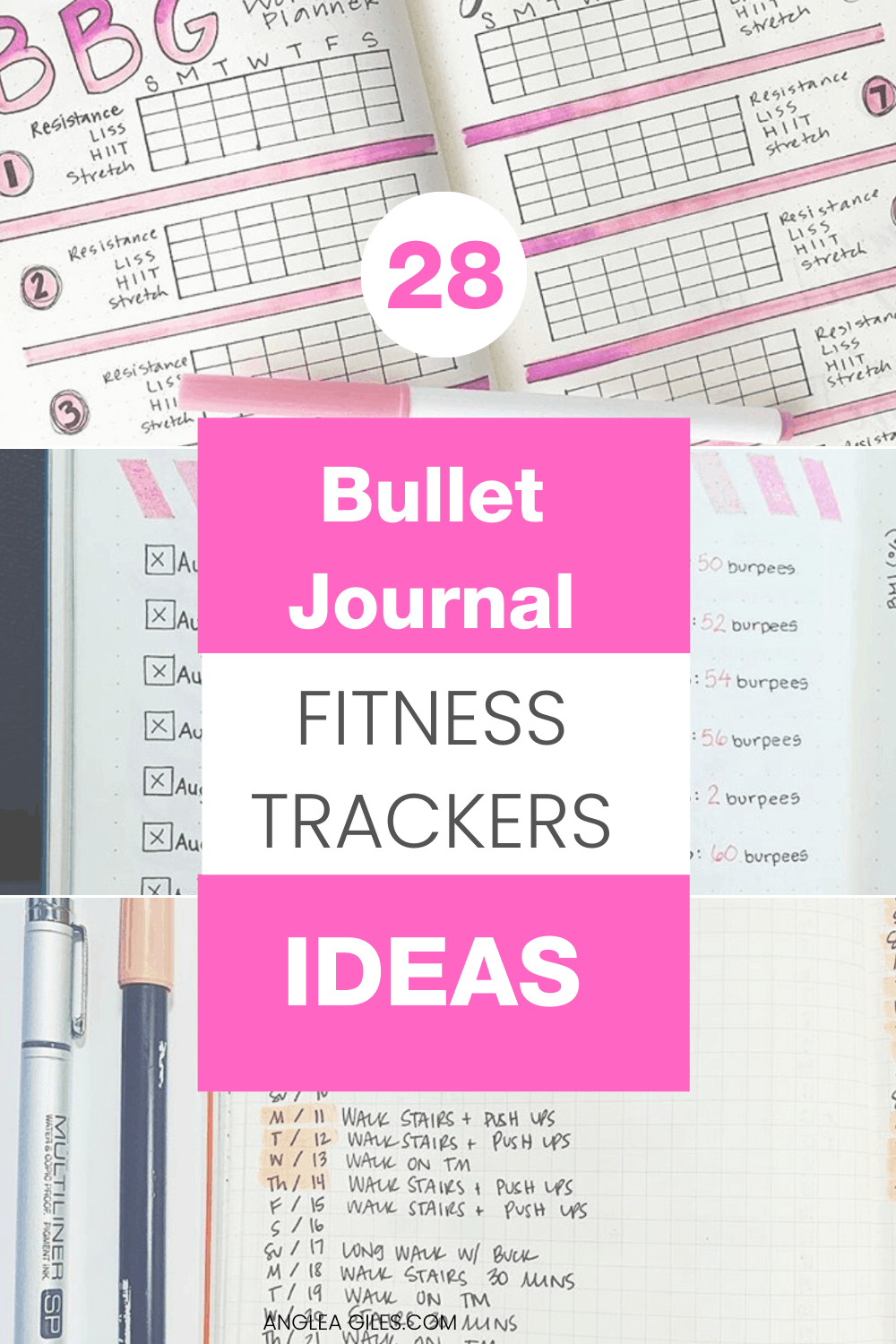 You will love these bullet journal fitness trackers.  They will help you track your daily, monthly and yearly patterns in your very own bujo fitness layout.  This collection showcases different health and fitness pages, ideas and spreads for your creative inspiration!  It is time to rock your fitness goals!
