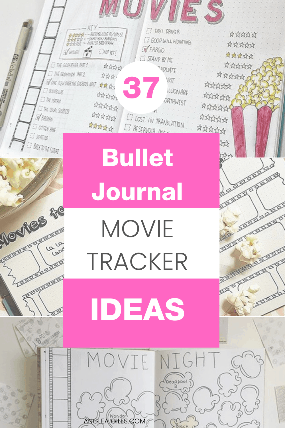 The Prettiest Ways to Track Your Bullet Journal Movies and TV Shows