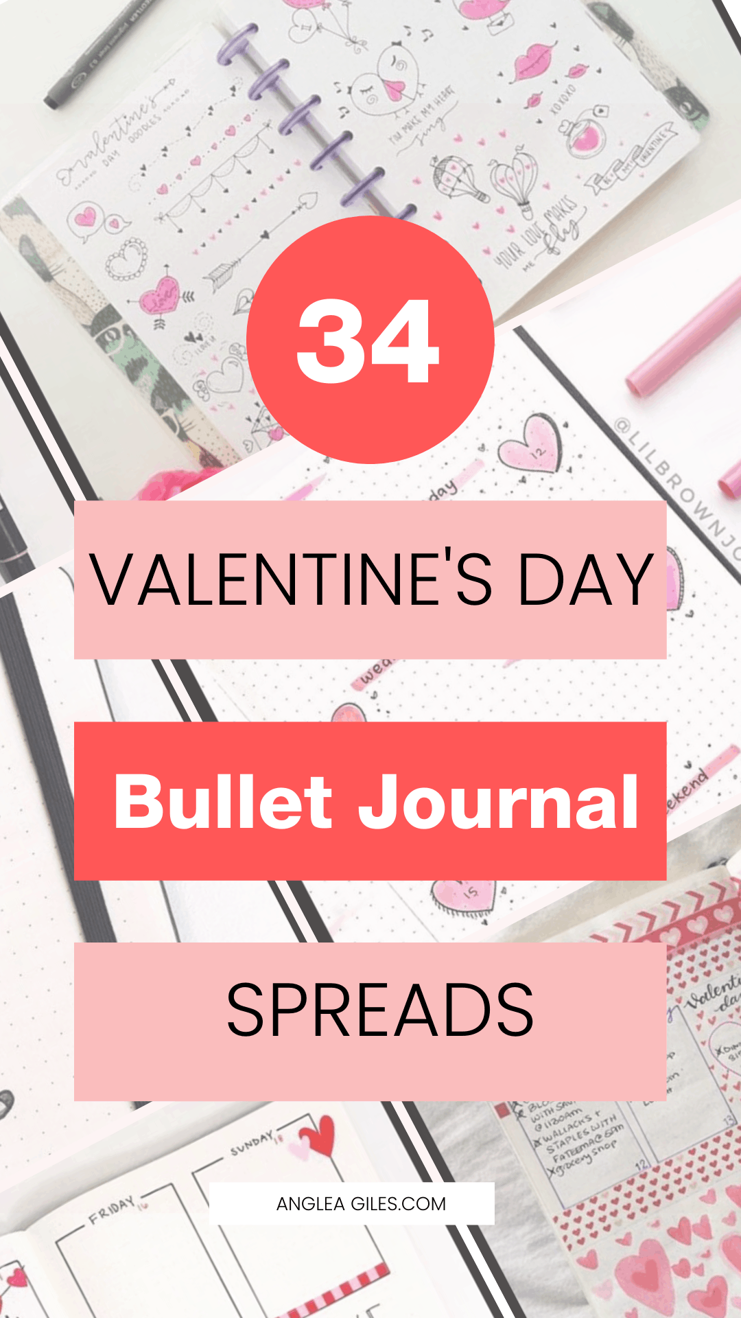 34 Best Valentines Day Bullet Journal Spreads in 2020