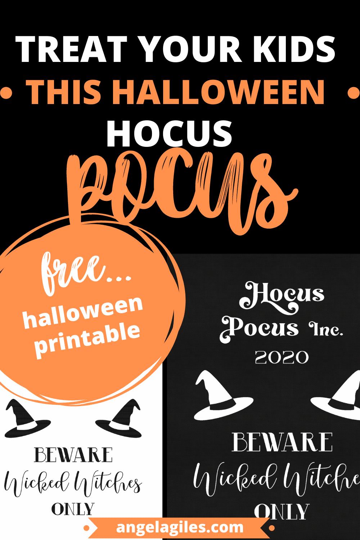 The Spookiest Halloween Printables:  Hocus Pocus