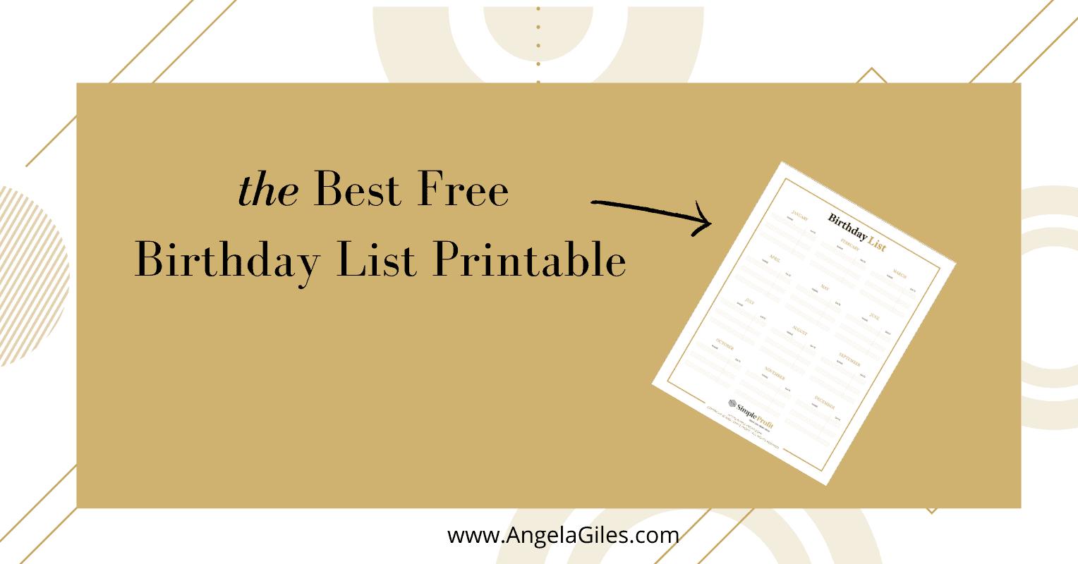 The Best Free Birthday List Printable