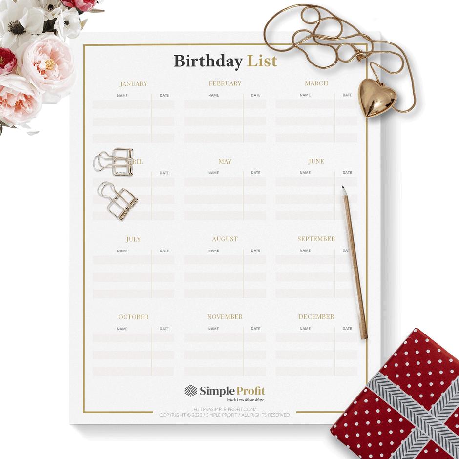 birthday-list-printable