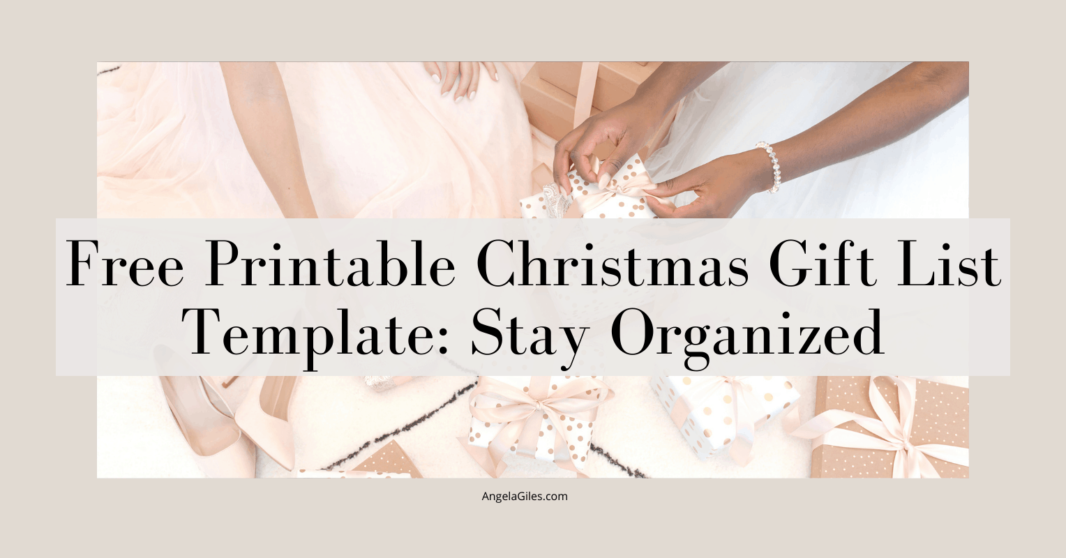 Free Printable Christmas Gift List Template: Stay Organized