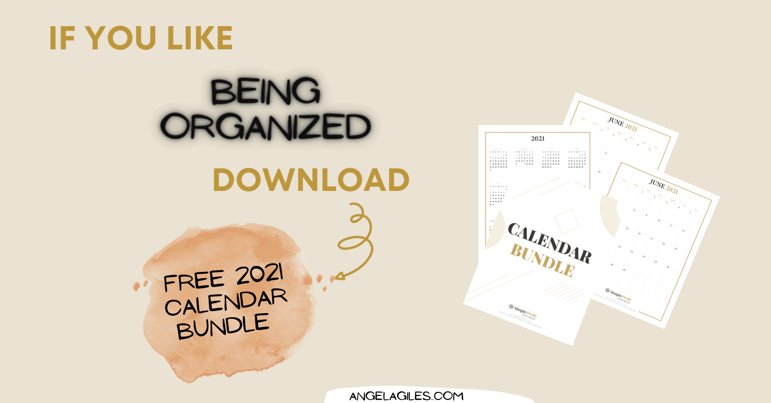 Free 2021 Calendar Printable Bundle: Monthly And Year At A Glance