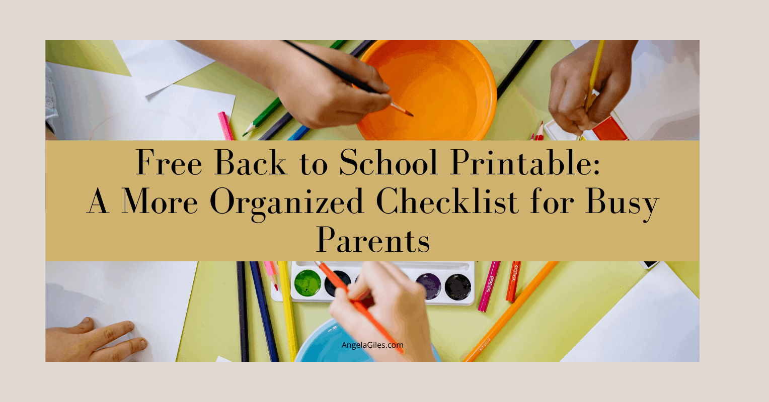 Free Back to School Printable: A More Organized Checklist for Busy Parents