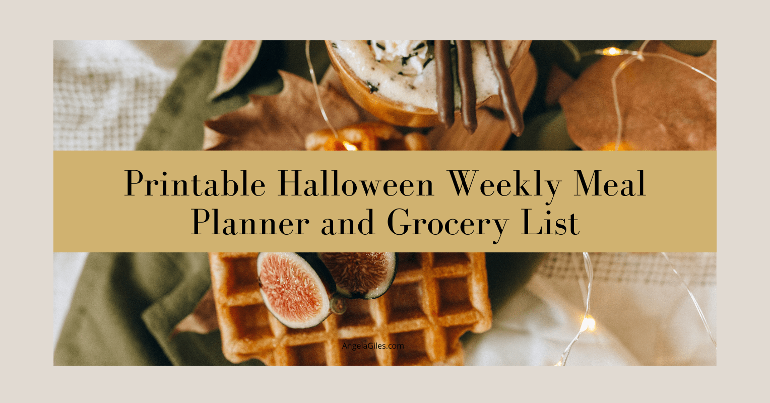 Printable Halloween Weekly Meal Planner and Grocery List