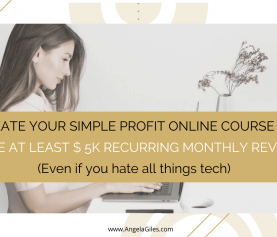 Create Your Simple Profit Online Course And Make At Least $ 5K Recurring Monthly Revenue [Even If You Hate All Tech Related Things]