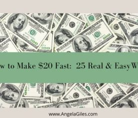 How To Make $20 Fast: (25 Easy Legitimate Ways in 2021)