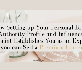How Setting up Your Personal Brand Authority Profile and Influencer Footprint Establishes You as an Expert so you can Sell a Premium Course